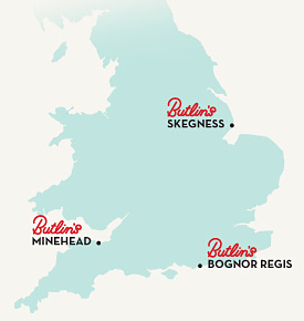 Butlins our locations
